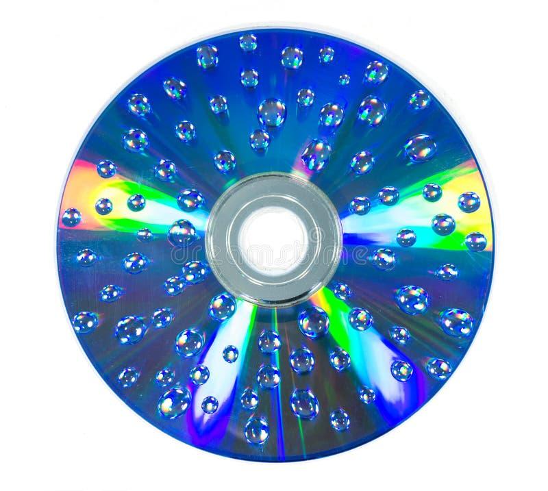Gota da água na ROM do CD foto de stock royalty free