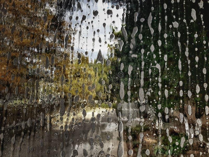 Gota da água no vidro ilustração do vetor