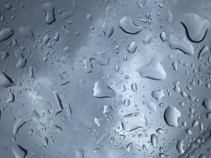 Gota da água no vidro foto de stock royalty free