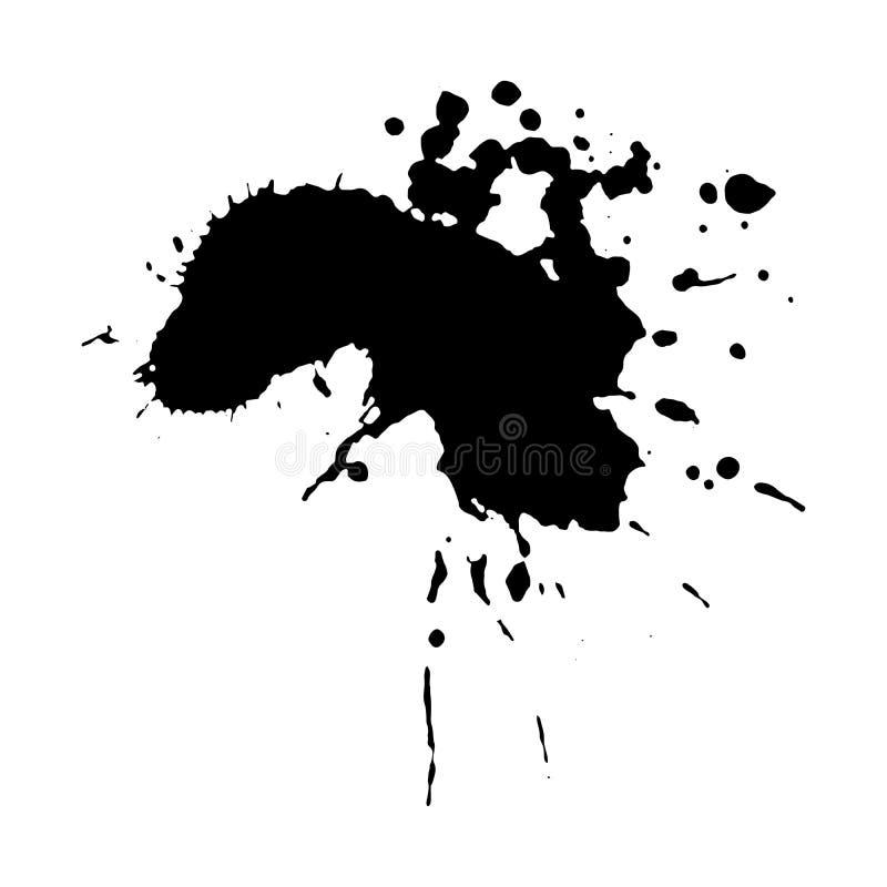 Gota da tinta do ébano ilustração do vetor