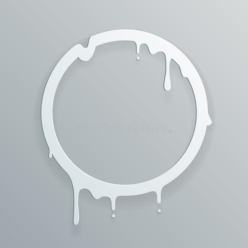 A gota de fluxo de papel de derretimento do círculo do fluxo da arte do quadro 3d escapa a ilustração abstrata do vetor do molde  ilustração royalty free
