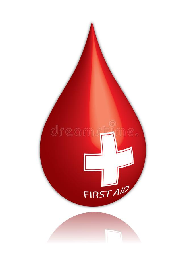 Gota de la sangre stock de ilustración