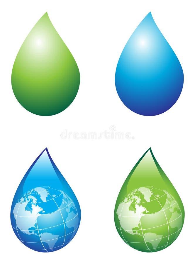 Gota de lluvia stock de ilustración