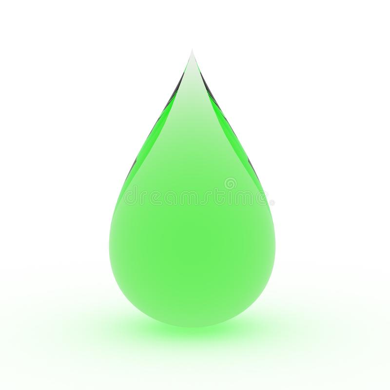 gota de lluvia verde libre illustration