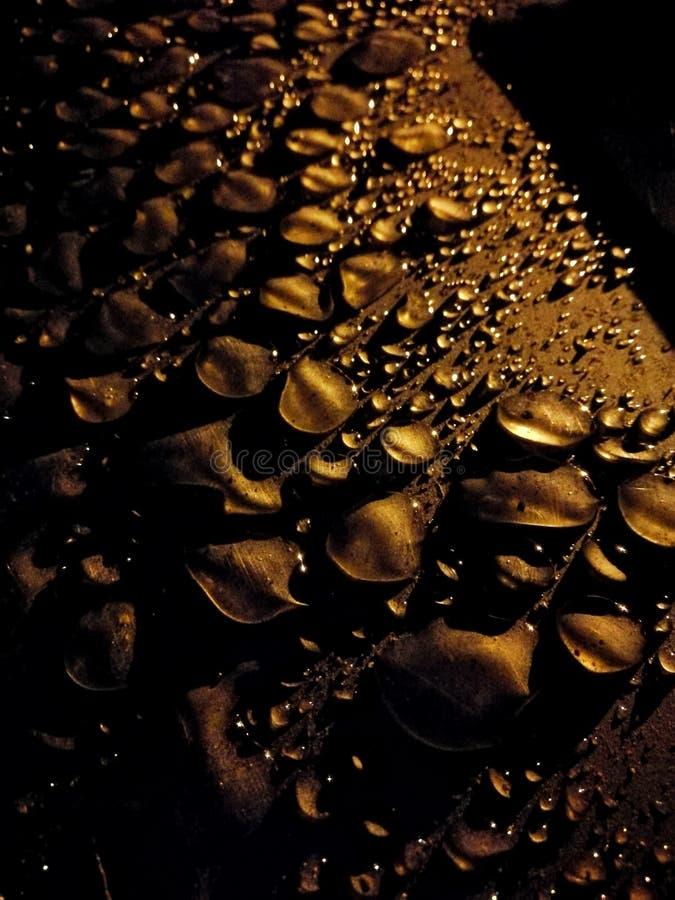 Gota de oro foto de archivo libre de regalías