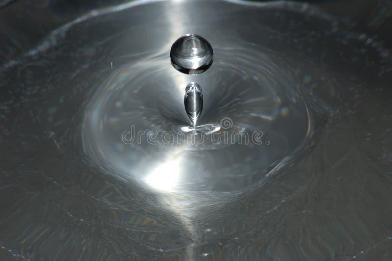 Download Gota de prata foto de stock. Imagem de impacto, molhado - 62560