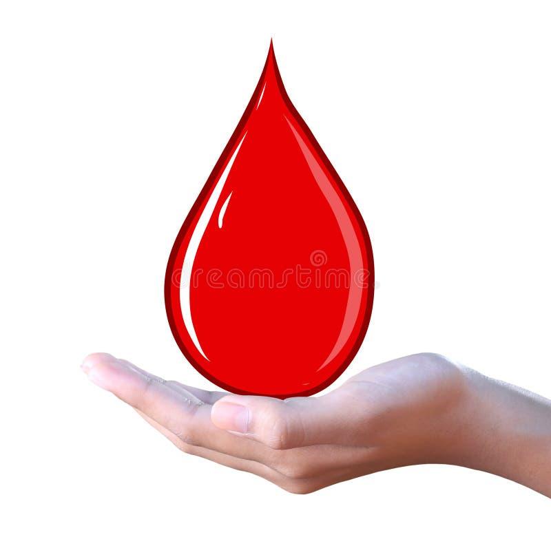 Gota de sangre disponible stock de ilustración