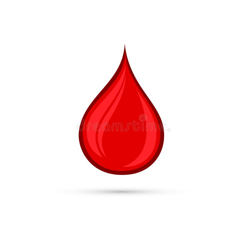 Gota de sangre roja stock de ilustración