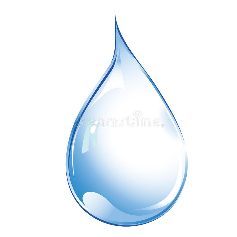 Gota del agua libre illustration