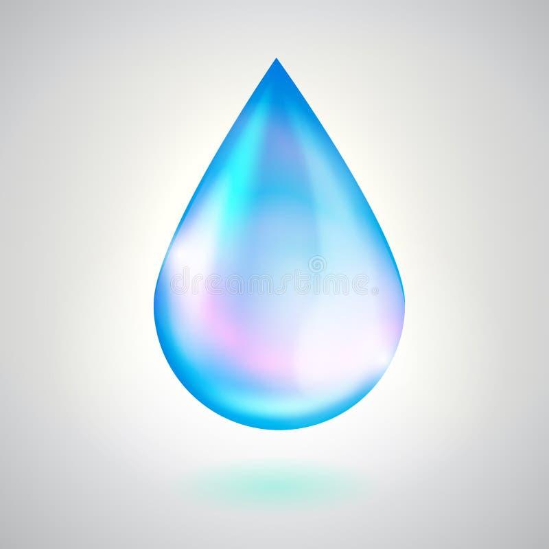 Download Gota del agua azul stock de ilustración. Ilustración de cristal - 42432121
