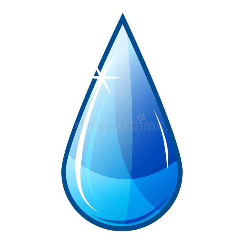 Gota del agua azul ilustración del vector