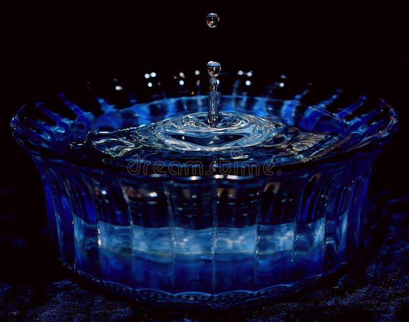 Gota del agua azul foto de archivo libre de regalías
