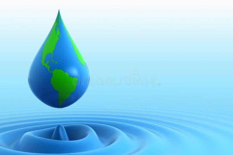 Gota del agua de la tierra ilustración del vector