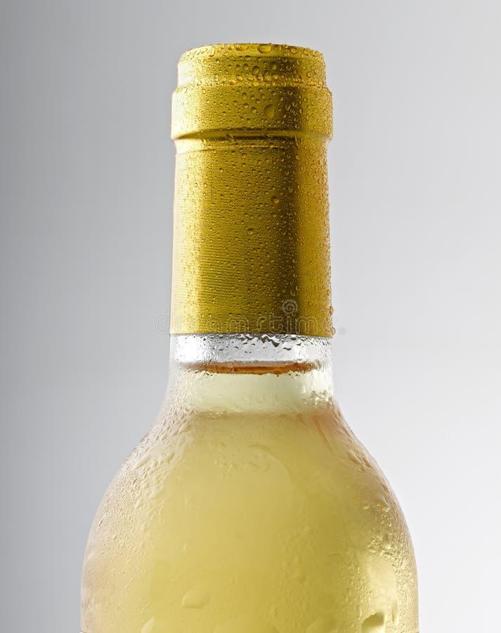 Gota del agua en una botella de vino fotografía de archivo libre de regalías