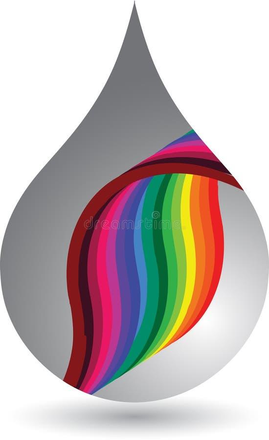 Gota del arco iris stock de ilustración