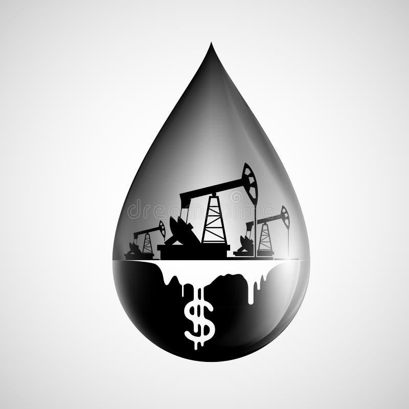 Gota del petróleo libre illustration