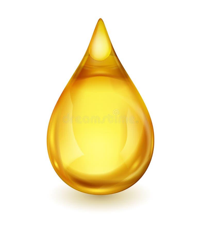Gota do óleo ou do combustível ilustração royalty free