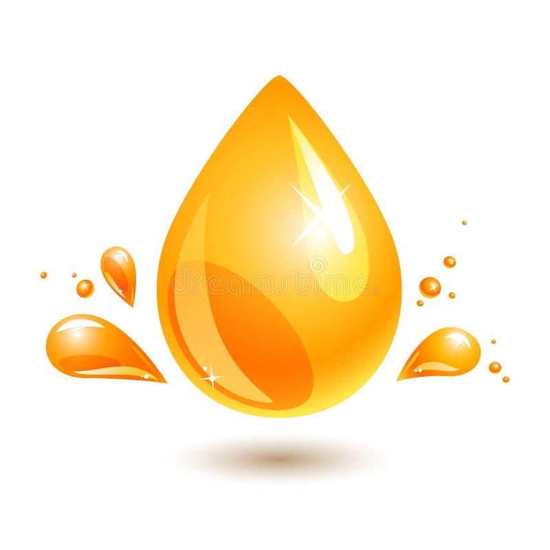 Gota do óleo. respingo do combustível ilustração do vetor