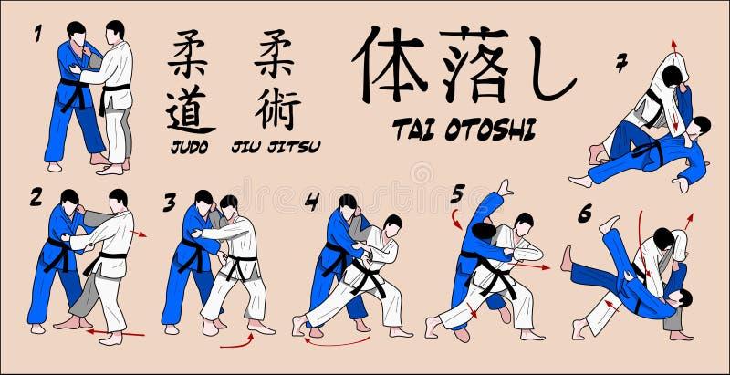 Gota do corpo do judo ilustração royalty free