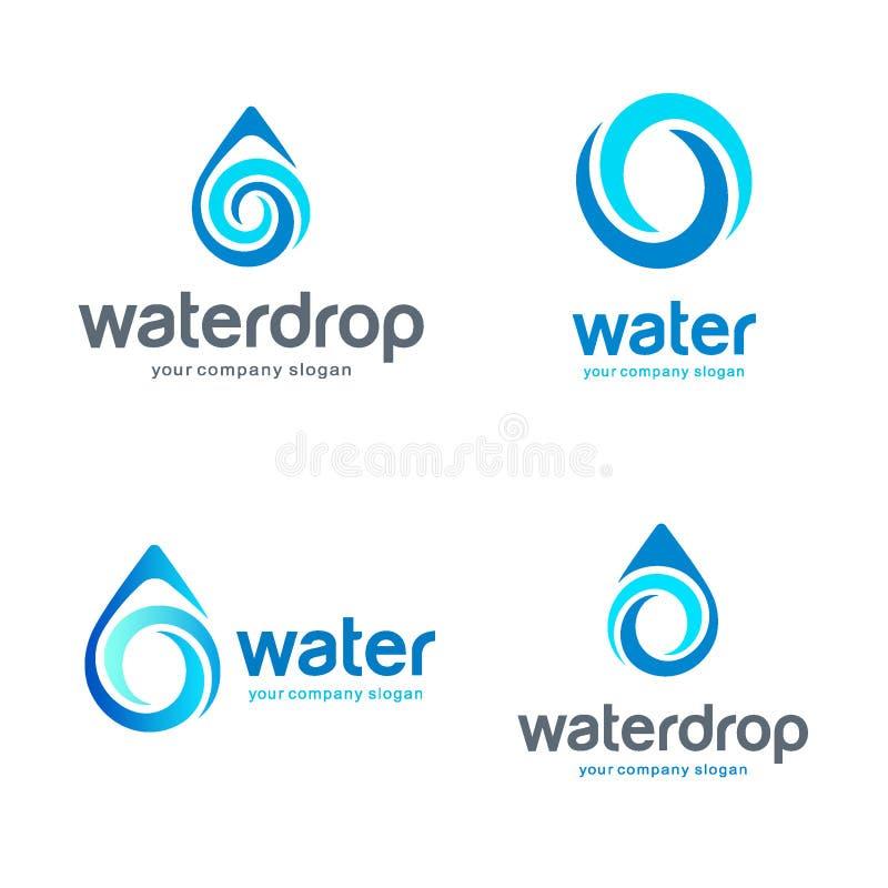 Gota do logotipo do vetor da água Agua potável, termas Ilustração do vetor ilustração do vetor