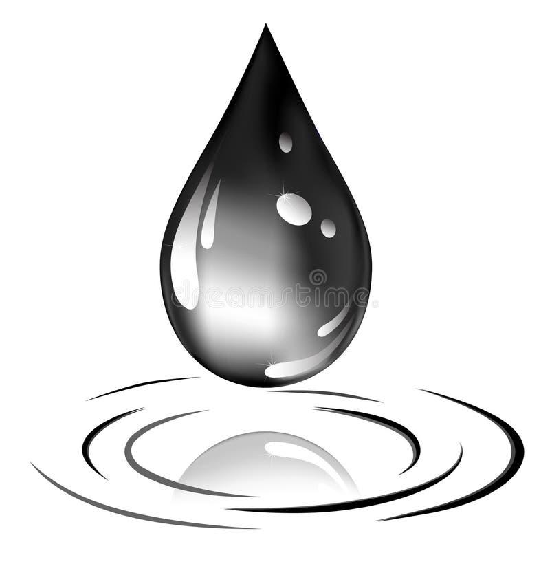 Gota do petróleo ilustração royalty free