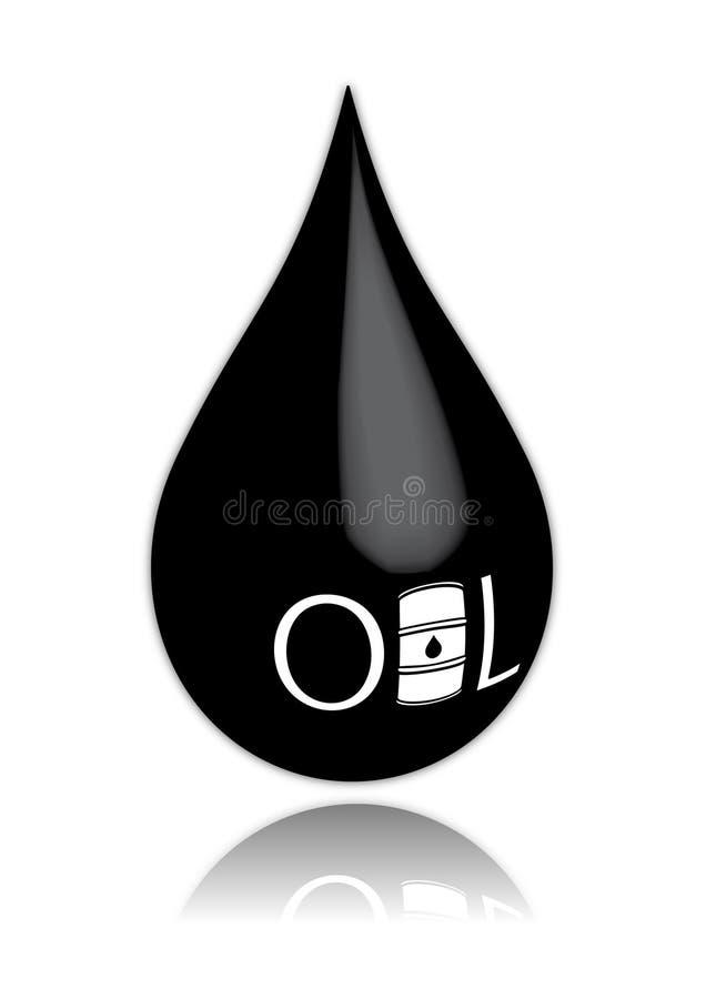 Gota do petróleo ilustração stock