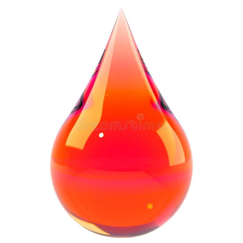Gota do sangue isolada no branco ilustração do vetor