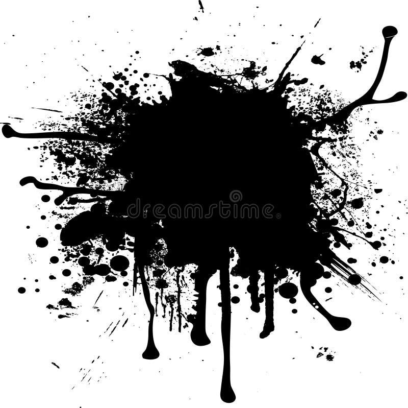 Gota do splat da tinta ilustração stock