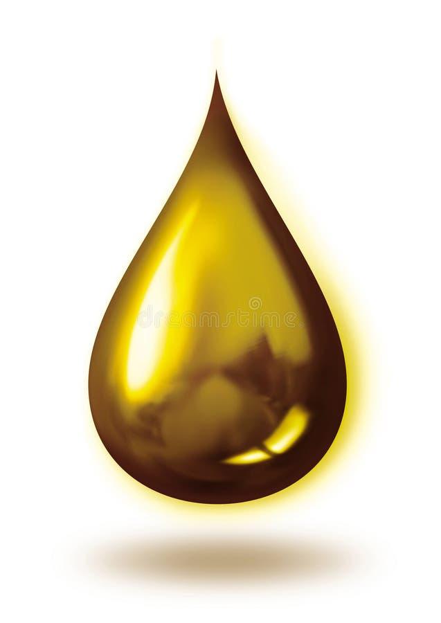Gota dourada ilustração do vetor