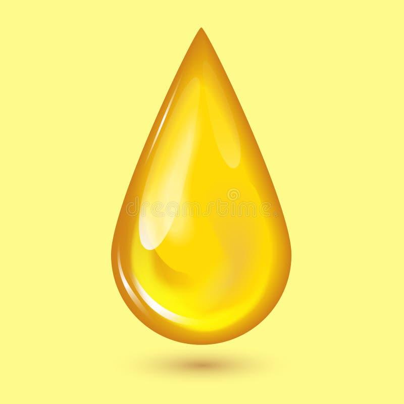 A gota e o amarelo alaranjados do mel espirram a ilustração líquida do vetor do gotejamento do alimento dourado saudável do xarop ilustração do vetor
