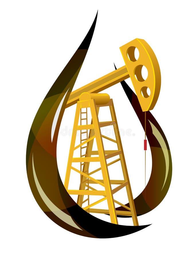 Gota estilizado do petróleo fóssil ilustração royalty free