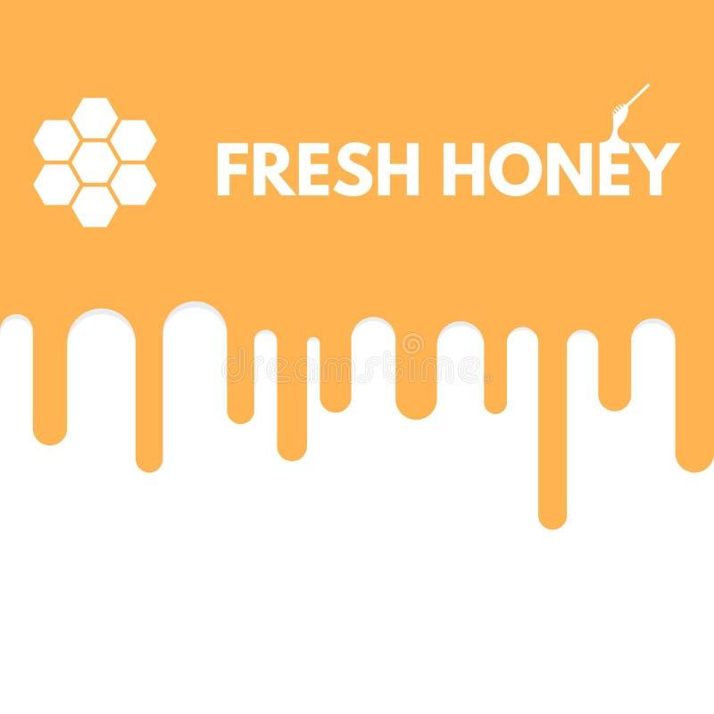 Gota fresca do mel ilustração do vetor