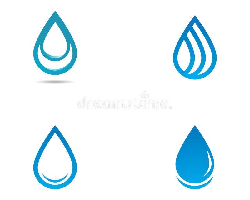 Gota Logo Template da água ilustração royalty free