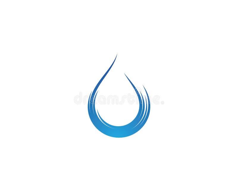Gota Logo Template da água ilustração stock
