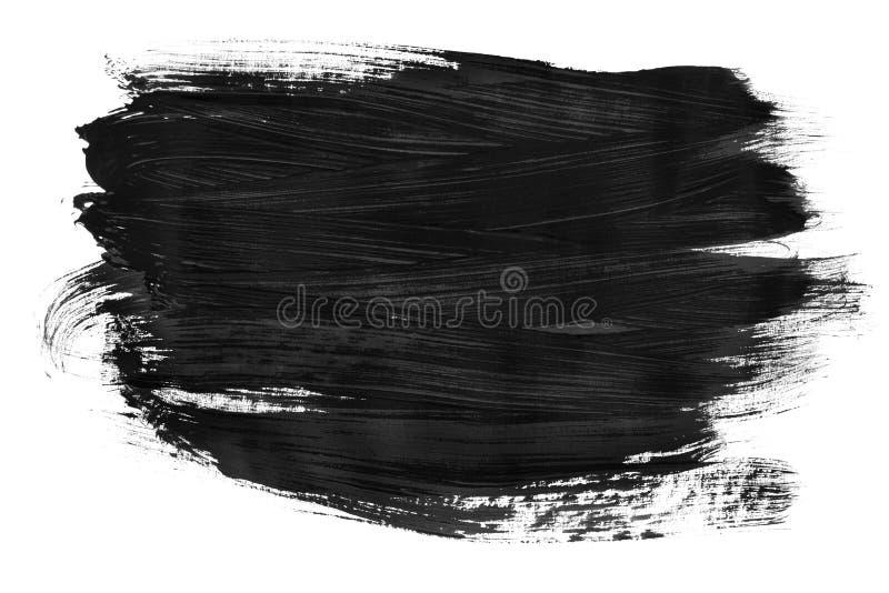 Gota negra aislada stock de ilustración