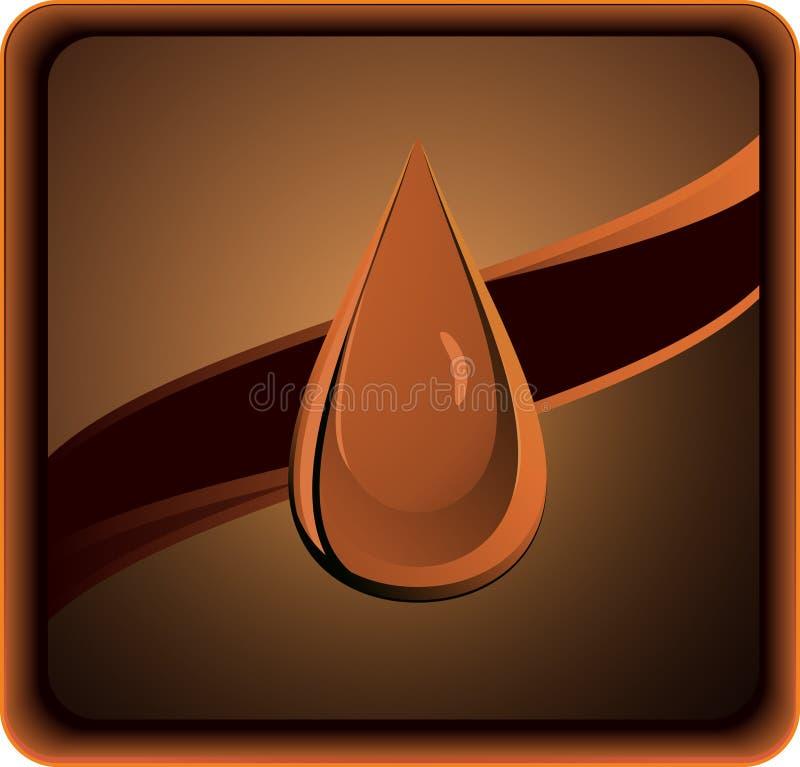 Gota oscura del petróleo ilustración del vector