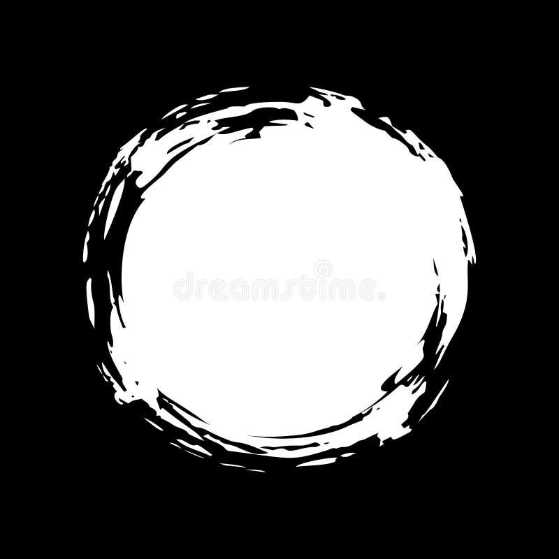 Gota pintada a mano de la tiza ilustración del vector