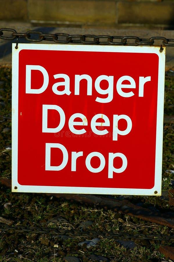 Gota profunda 01 do perigo imagem de stock royalty free