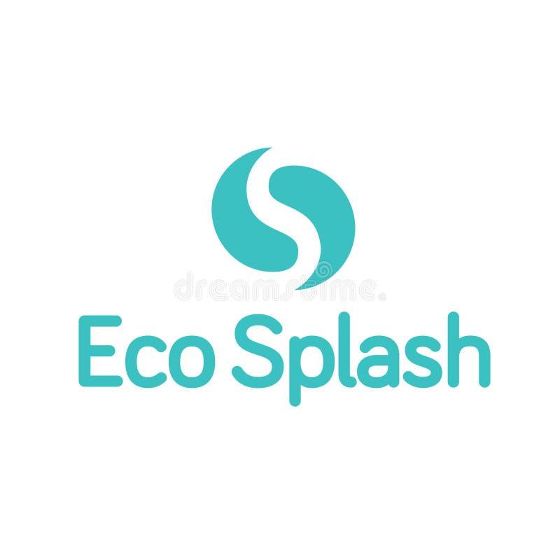 Gota Ying Yang Splash Logo da gota da água de Eco foto de stock royalty free