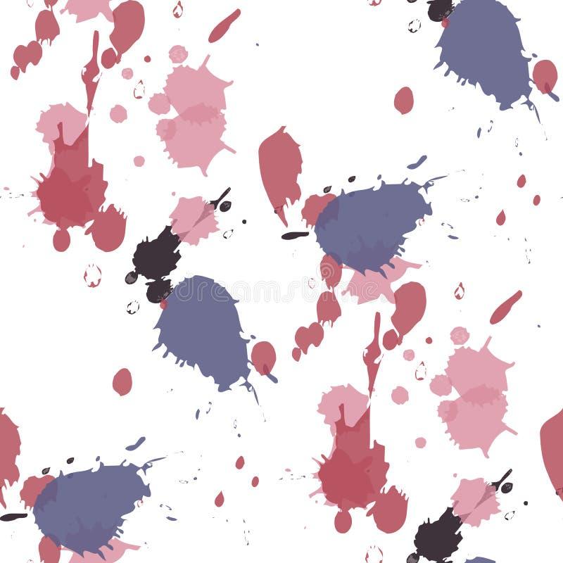 Gotas abstratas da aquarela Splats abstratos coloridos da pintura da tinta ilustração royalty free