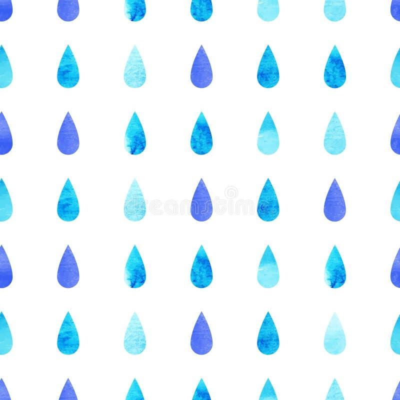 Gotas azuis da chuva ilustração do vetor