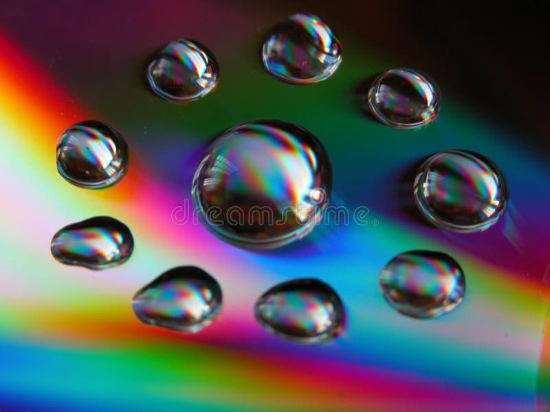 Gotas Cd imagen de archivo libre de regalías