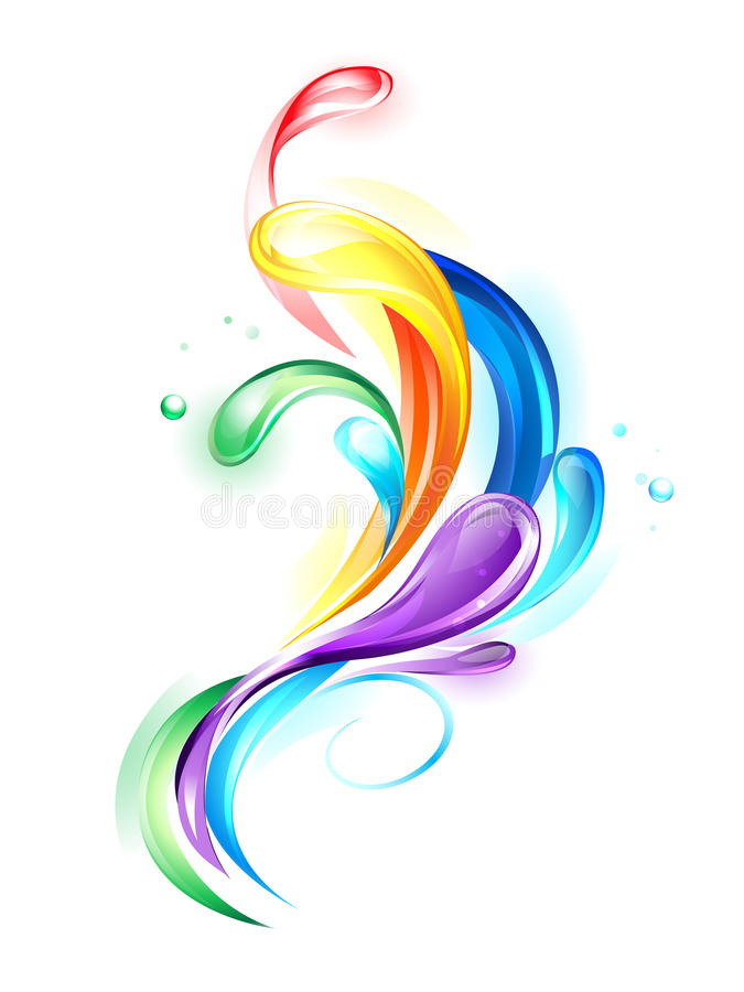 Gotas claras do arco-íris ilustração do vetor