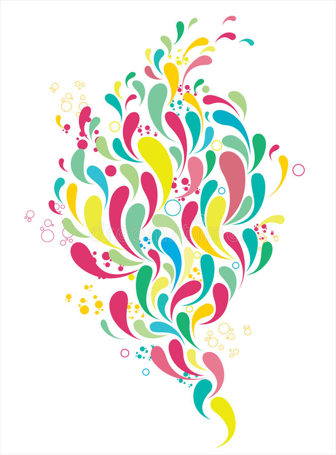 Gotas coloridas ilustração stock