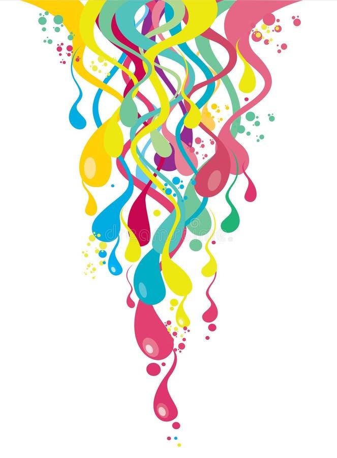 Gotas coloridas ilustração royalty free