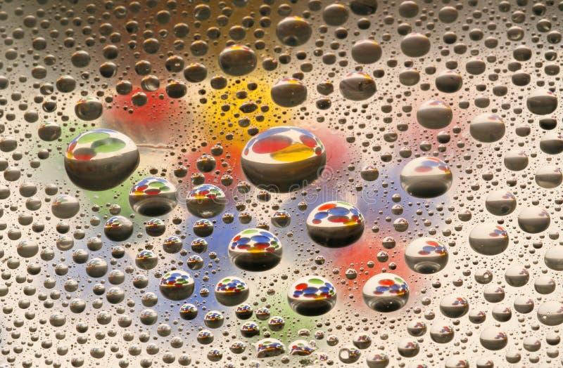 Gotas coloridas foto de stock royalty free