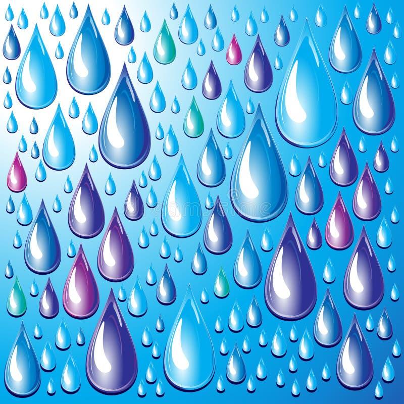 Gotas da água. ilustração do vetor