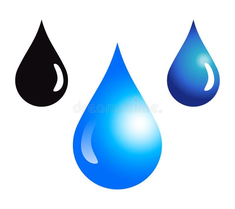 Gotas da água ilustração stock