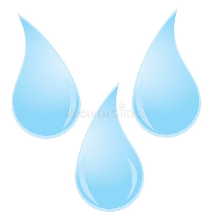 Gotas da água ilustração royalty free