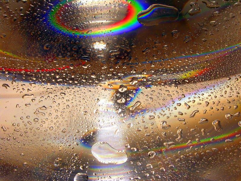 Gotas da água - arco-íris imagens de stock